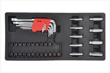 41PCS HEX KEYS & SOCKET BIT SET
