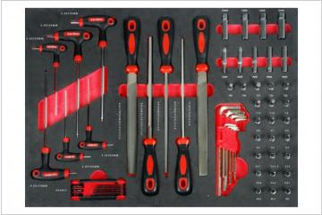 62PCS Hex Key, File & Bit Socket Set