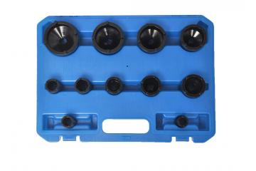 11-piece Special Socket Set for Grooved Nuts, 22-75 mm