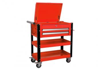 2-DRAWER HEAVY-DUTY MOBILE TOOL & PARTS TROLLEY WITH LOCKABLE TOP