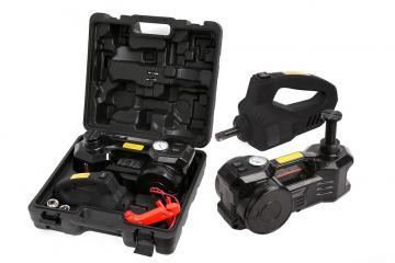 Multi-function Car Repair Set -Car Hydraulic Floor Jack /Tire Inflator Gauge & Impact Wrench Set