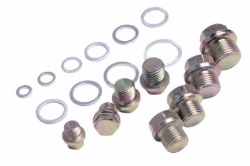 OIL DRAIN PLUG SCREWS & ALUM. O-RING SET
