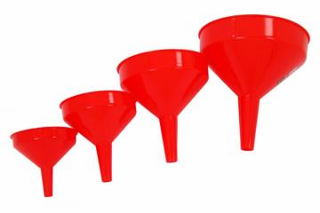 4 PIECE PLASTIC FUNNEL SET WITH HANGING HOLE