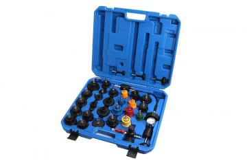33 PIECE RADIATOR AND CAP PRESSURE TEST KIT