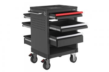27 inch  tool trolley Two-way open 6 drawers