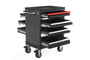 27 inch  tool trolley Two-way open 7 drawers